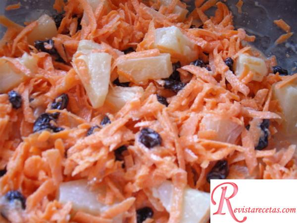 Ensalada de zanahoria y manzana receta de cocina - Ensalada de apio y zanahoria ...